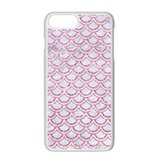 Scales2 White Marble & Pink Glitter (r) Apple Iphone 7 Plus Seamless Case (white) by trendistuff