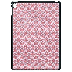 Scales2 White Marble & Pink Glitter Apple Ipad Pro 9 7   Black Seamless Case by trendistuff
