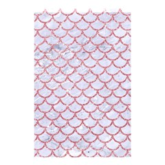 Scales1 White Marble & Pink Glitter (r) Shower Curtain 48  X 72  (small)  by trendistuff