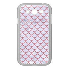 Scales1 White Marble & Pink Glitter (r) Samsung Galaxy Grand Duos I9082 Case (white) by trendistuff