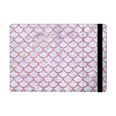 Scales1 White Marble & Pink Glitter (r) Ipad Mini 2 Flip Cases by trendistuff