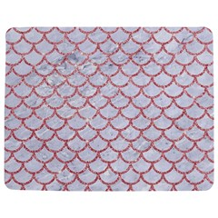 Scales1 White Marble & Pink Glitter (r) Jigsaw Puzzle Photo Stand (rectangular) by trendistuff