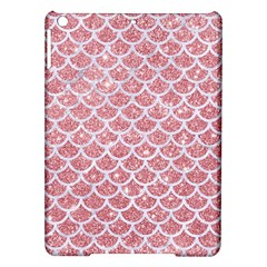 Scales1 White Marble & Pink Glitter Ipad Air Hardshell Cases by trendistuff