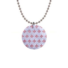 Royal1 White Marble & Pink Glitter Button Necklaces by trendistuff