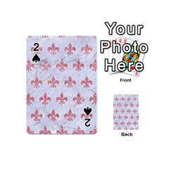 Royal1 White Marble & Pink Glitter Playing Cards 54 (mini)  by trendistuff
