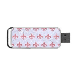 Royal1 White Marble & Pink Glitter Portable Usb Flash (two Sides) by trendistuff