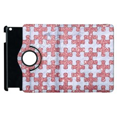 Puzzle1 White Marble & Pink Glitter Apple Ipad 3/4 Flip 360 Case by trendistuff