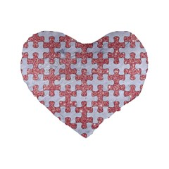 Puzzle1 White Marble & Pink Glitter Standard 16  Premium Flano Heart Shape Cushions by trendistuff