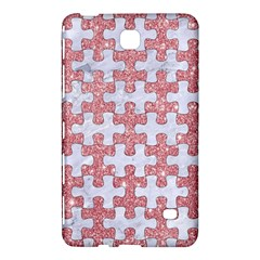 Puzzle1 White Marble & Pink Glitter Samsung Galaxy Tab 4 (7 ) Hardshell Case  by trendistuff