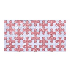 Puzzle1 White Marble & Pink Glitter Satin Wrap by trendistuff