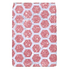 Hexagon2 White Marble & Pink Glitter Flap Covers (s)  by trendistuff