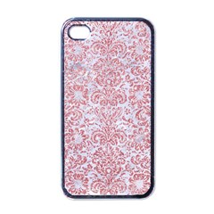 Damask2 White Marble & Pink Glitter (r) Apple Iphone 4 Case (black) by trendistuff