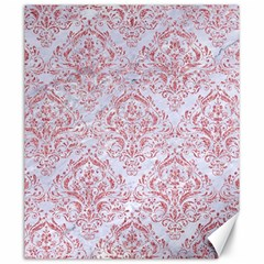 Damask1 White Marble & Pink Glitter (r) Canvas 20  X 24   by trendistuff