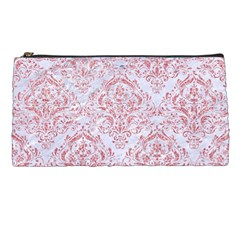 Damask1 White Marble & Pink Glitter (r) Pencil Cases by trendistuff