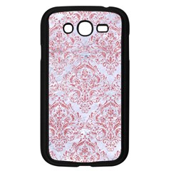 Damask1 White Marble & Pink Glitter (r) Samsung Galaxy Grand Duos I9082 Case (black) by trendistuff