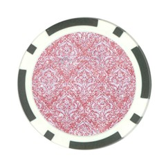 Damask1 White Marble & Pink Glitter Poker Chip Card Guard (10 Pack) by trendistuff