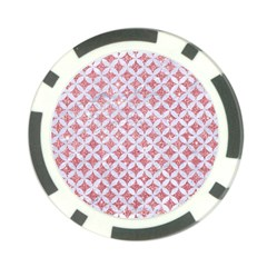 Circles3 White Marble & Pink Glitter Poker Chip Card Guard (10 Pack) by trendistuff