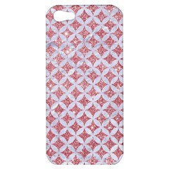Circles3 White Marble & Pink Glitter Apple Iphone 5 Hardshell Case