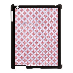 Circles3 White Marble & Pink Glitter Apple Ipad 3/4 Case (black) by trendistuff