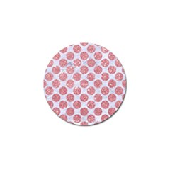 Circles2 White Marble & Pink Glitter (r) Golf Ball Marker by trendistuff