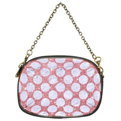 Circles2 White Marble & Pink Glitter Chain Purses (two Sides)  by trendistuff