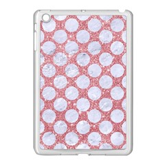 Circles2 White Marble & Pink Glitter Apple Ipad Mini Case (white) by trendistuff