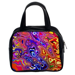 Colorful Texture                                      Classic Handbag (two Sides) by LalyLauraFLM