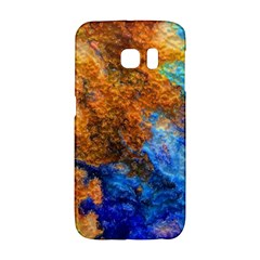 Blue Brown  Texture                                 Samsung Galaxy S6 Edge Hardshell Case by LalyLauraFLM