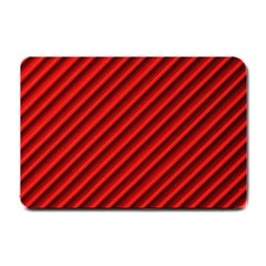 Abstract Red Art Small Doormat  by goodart