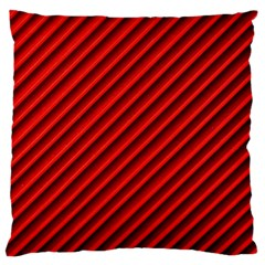 Abstract Red Art Large Flano Cushion Case (two Sides) by goodart