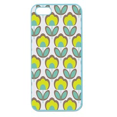 Floral Retro 70s Apple Seamless Iphone 5 Case (color) by goodart