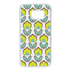 Floral Retro 70s Samsung Galaxy S7 White Seamless Case
