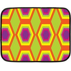 Geometric Retro Pattern Fleece Blanket (mini) by goodart