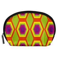 Geometric Retro Pattern Accessory Pouches (large)  by goodart