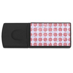 Circles1 White Marble & Pink Glitter (r) Rectangular Usb Flash Drive by trendistuff