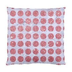 Circles1 White Marble & Pink Glitter (r) Standard Cushion Case (two Sides) by trendistuff