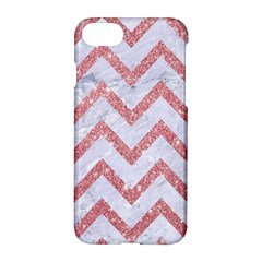 Chevron9 White Marble & Pink Glitter (r) Apple Iphone 7 Hardshell Case