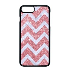 Chevron9 White Marble & Pink Glitter Apple Iphone 8 Plus Seamless Case (black)