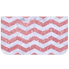 Chevron3 White Marble & Pink Glitter Lunch Bag