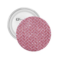 Brick2 White Marble & Pink Glitter 2 25  Buttons by trendistuff