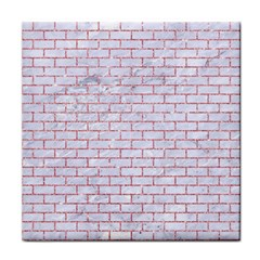 Brick1 White Marble & Pink Glitter (r) Tile Coasters by trendistuff