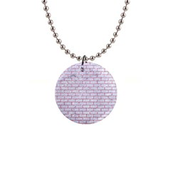 Brick1 White Marble & Pink Glitter (r) Button Necklaces by trendistuff
