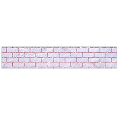 Brick1 White Marble & Pink Glitter (r) Large Flano Scarf  by trendistuff