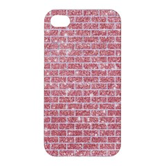 Brick1 White Marble & Pink Glitter Apple Iphone 4/4s Hardshell Case by trendistuff