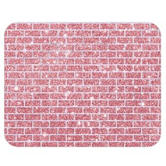 Brick1 White Marble & Pink Glitter Double Sided Flano Blanket (medium)  by trendistuff