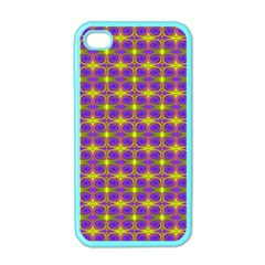 Purple Yellow Swirl Pattern Apple Iphone 4 Case (color) by BrightVibesDesign