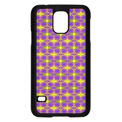 Purple Yellow Swirl Pattern Samsung Galaxy S5 Case (black) by BrightVibesDesign