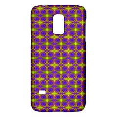Purple Yellow Swirl Pattern Galaxy S5 Mini by BrightVibesDesign