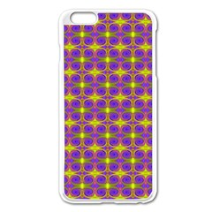Purple Yellow Swirl Pattern Apple Iphone 6 Plus/6s Plus Enamel White Case by BrightVibesDesign
