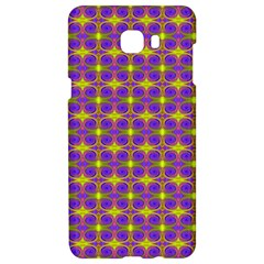 Purple Yellow Swirl Pattern Samsung C9 Pro Hardshell Case  by BrightVibesDesign